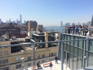 Panoramic Hudson views from the new Whitney